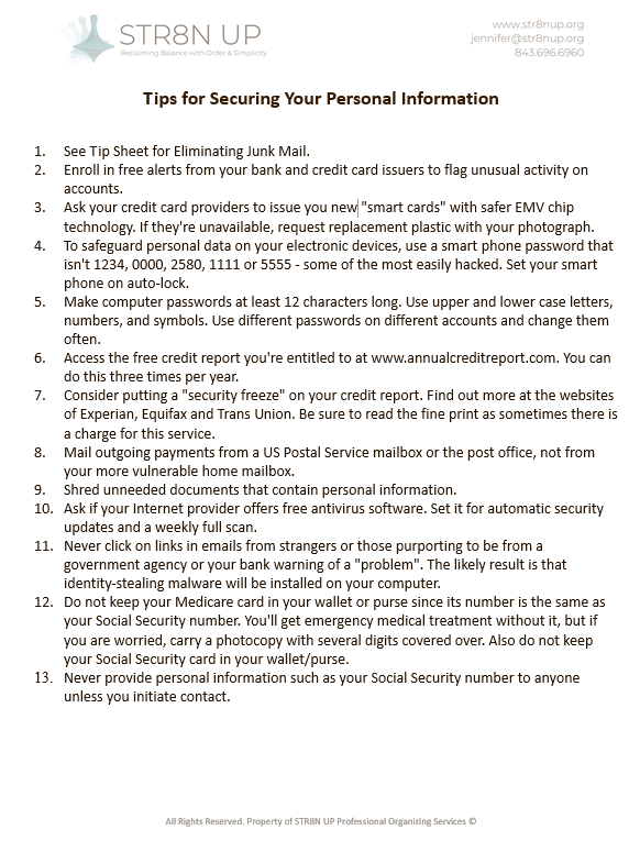 securing personal information