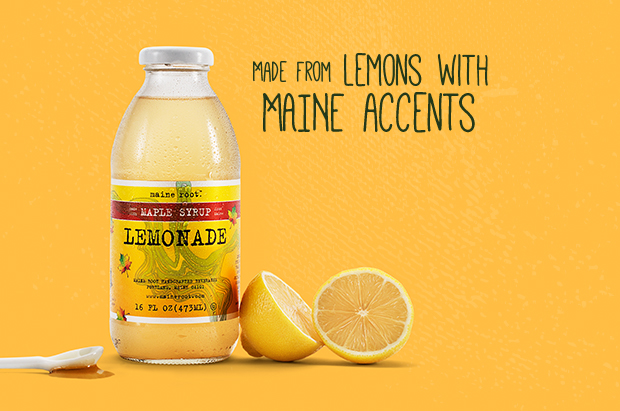 MAPLE LEMONADE - Sweetened with Maine-harvested maple syrup good enough to make a mountie blush. It's also the winner of Natural Products Expo East 2010 New Products Showcase Award.