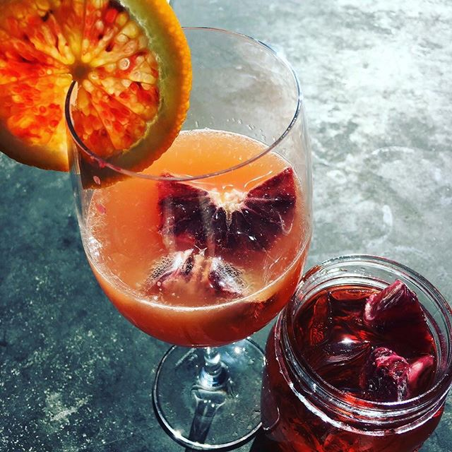 Organic blood orange mimosa and guava medley mimosas available all day today! Come sip on some with brunch! #sbcmilford #brunch #brunchtime #ctbrunch #treatyoself #bloodorange #mimosa #guava #followus