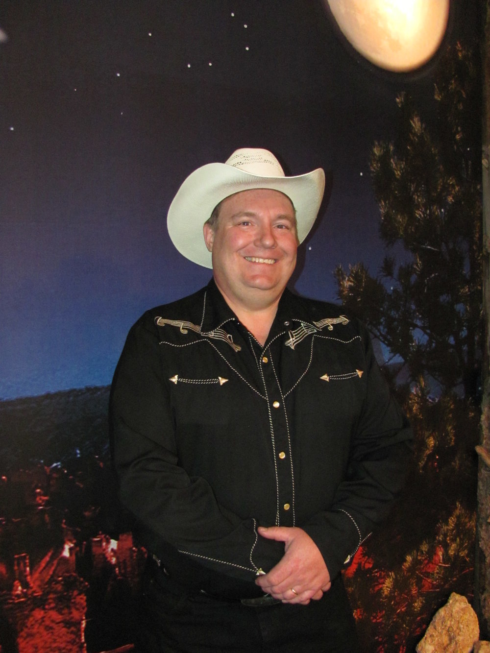 LAYNE BENSON - Wranglers.We are excited to have the talents of Layne back with the Wranglers.He adds a powerful baritone voice and a great guitar picking style to the Wranglers sound. Layne lives in LA Verkin,Utah.