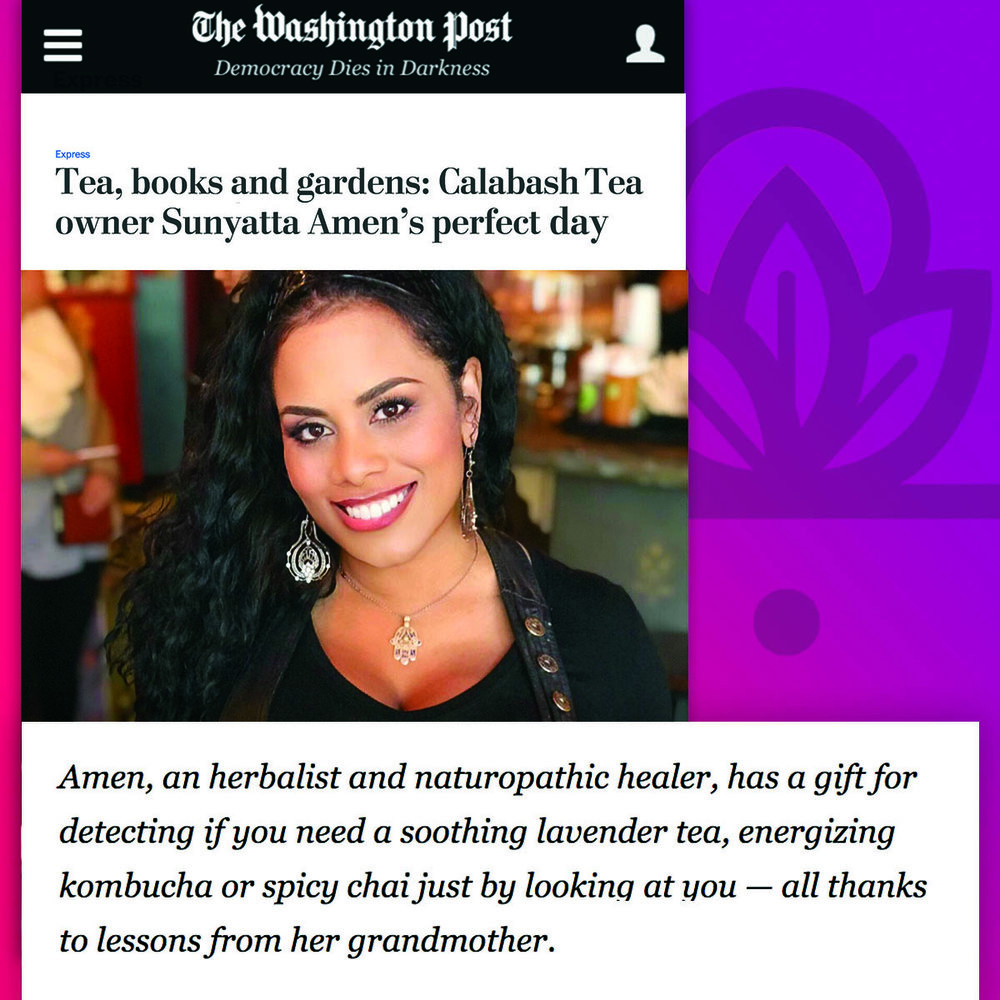 Washington Post - Tea, Books, & Gardens 🍵📚 - Calabash's owner shares her perfect day in the community. Read more at the Washington Post Express.