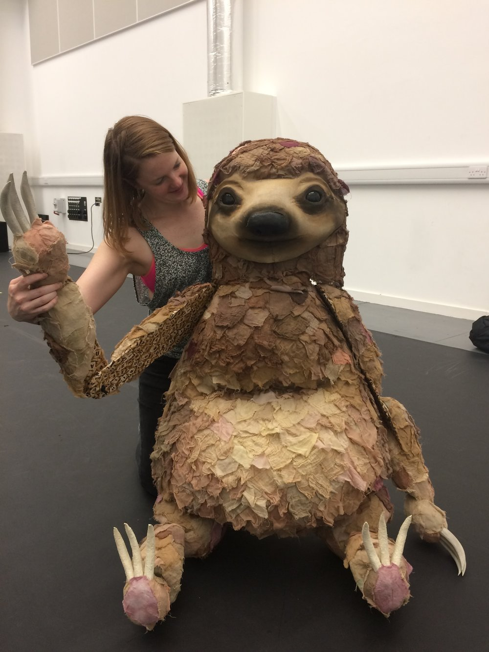 Our new sloth puppet for A Stone's Throw...