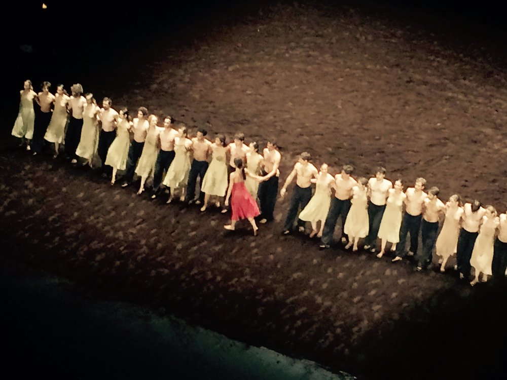 Catching Pina Bausch's The Rite of Spring at Paris Opera House.