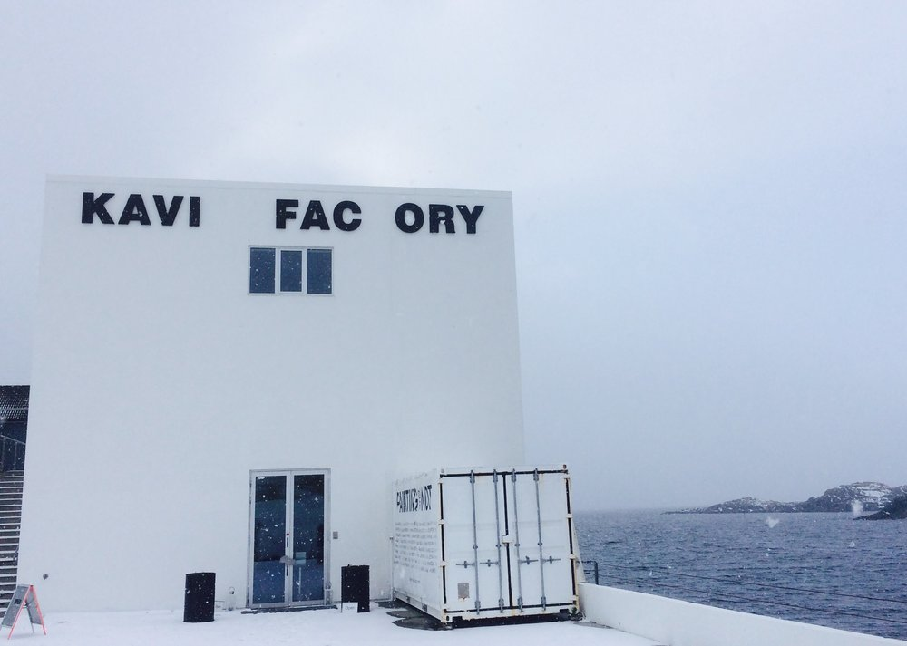 At the Kaviar Factory in Henningsvaer for some contemporary art inspiration.