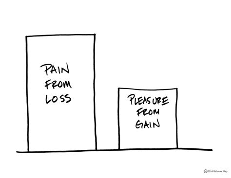 Pain from loss outweighing pleasure from gain:   The True Cost of Loss Aversion - Behavior Gap