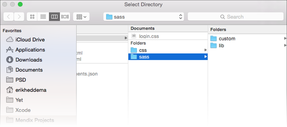 SASS folder in Mendix project directory. Credit, Mendix