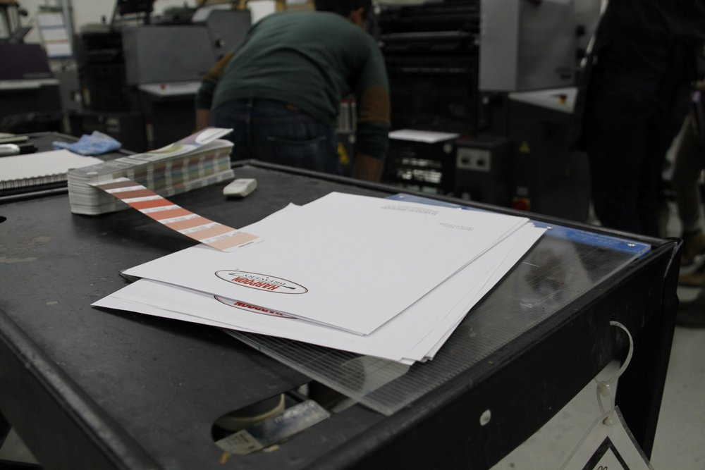 Print Samples from Harpoon. Photo: Carly Hagins