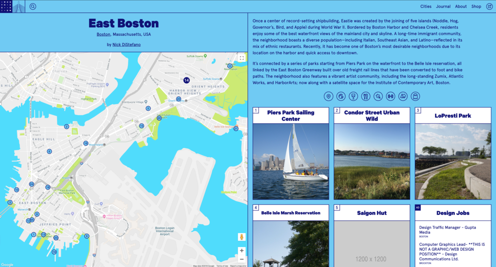 Screenshot: On the Grid guide to East Boston. Source:  Nick Di Stefano & On the Grid