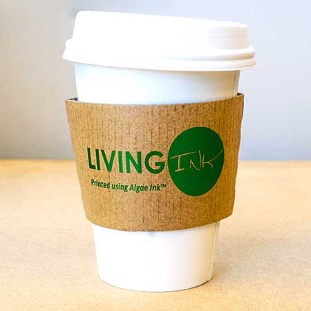 Algae Ink™ printed Coffee Sleeve