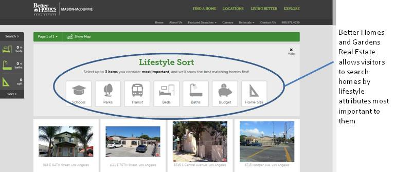 BHGRE lifestyle search