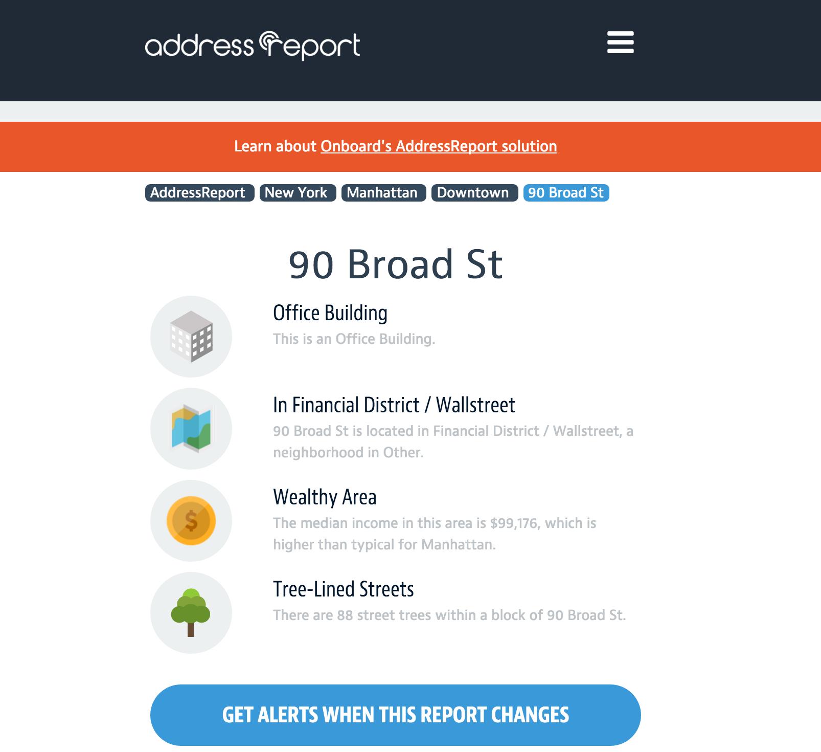 Addressreport