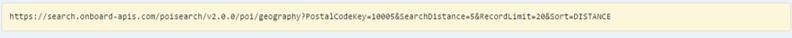 Request URL - POI API