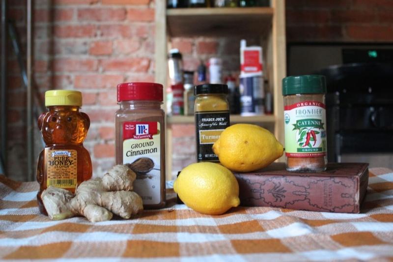 Ginger, Lemon, & Cinnamon Tea _1