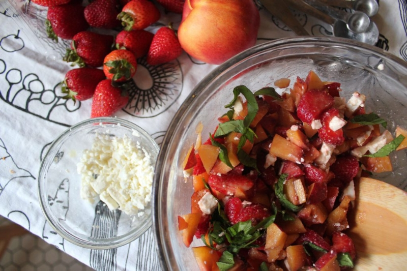 Nectarine, Strawberry, & Feta Salad_1
