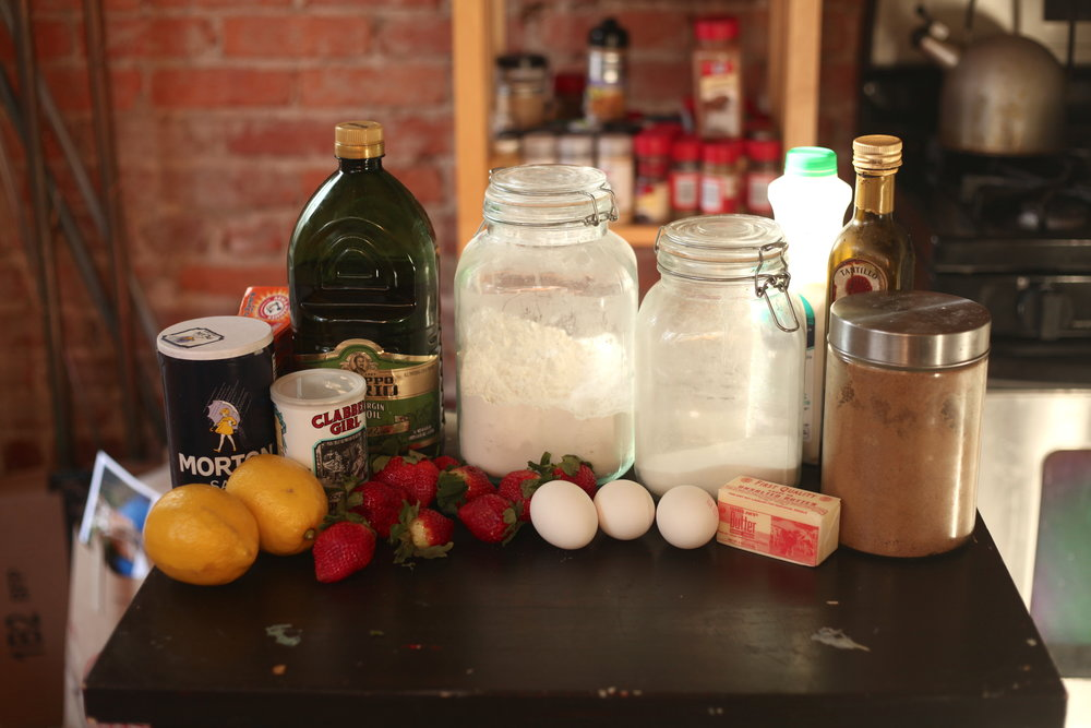Olive Oil Pound Cake Balsamic Strawberries 1