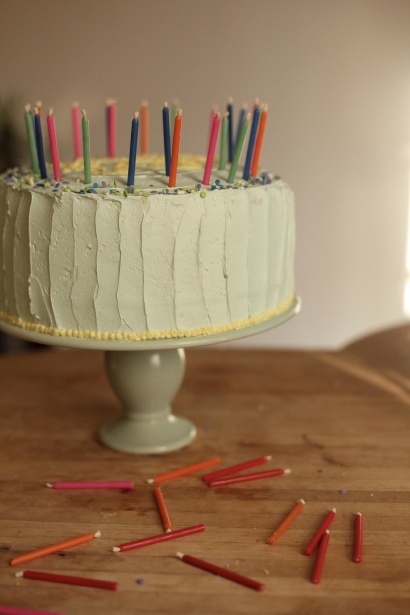 White Chocolate Frosting Lemon Buttercream Birthday Cake