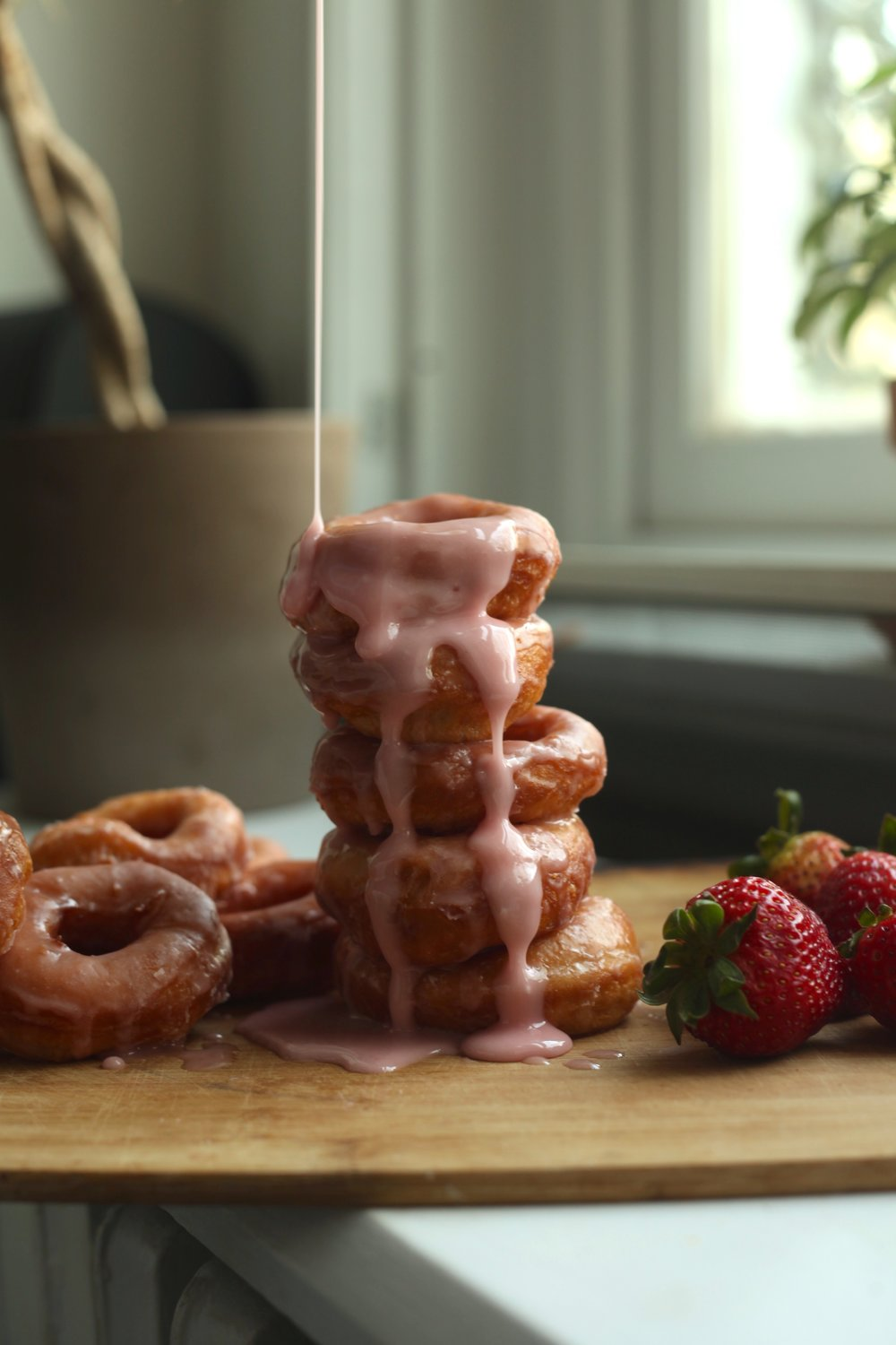 Strawberry Milk Donuts 1