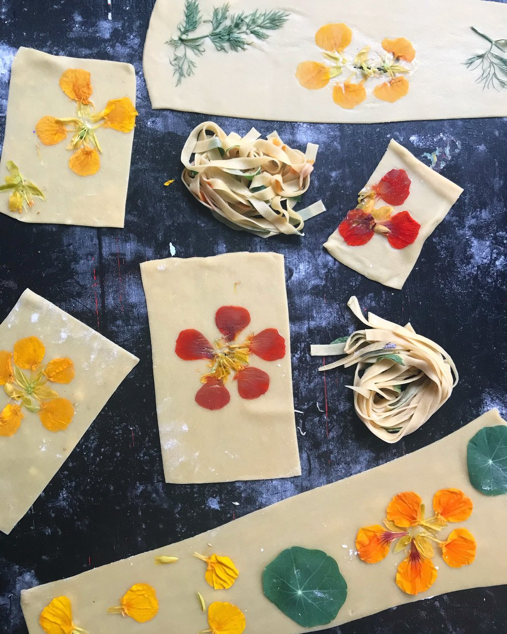 Homemade Pasta Edible Flowers 1