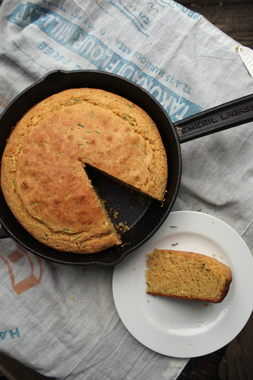 Chive Skillet Cornbread 2