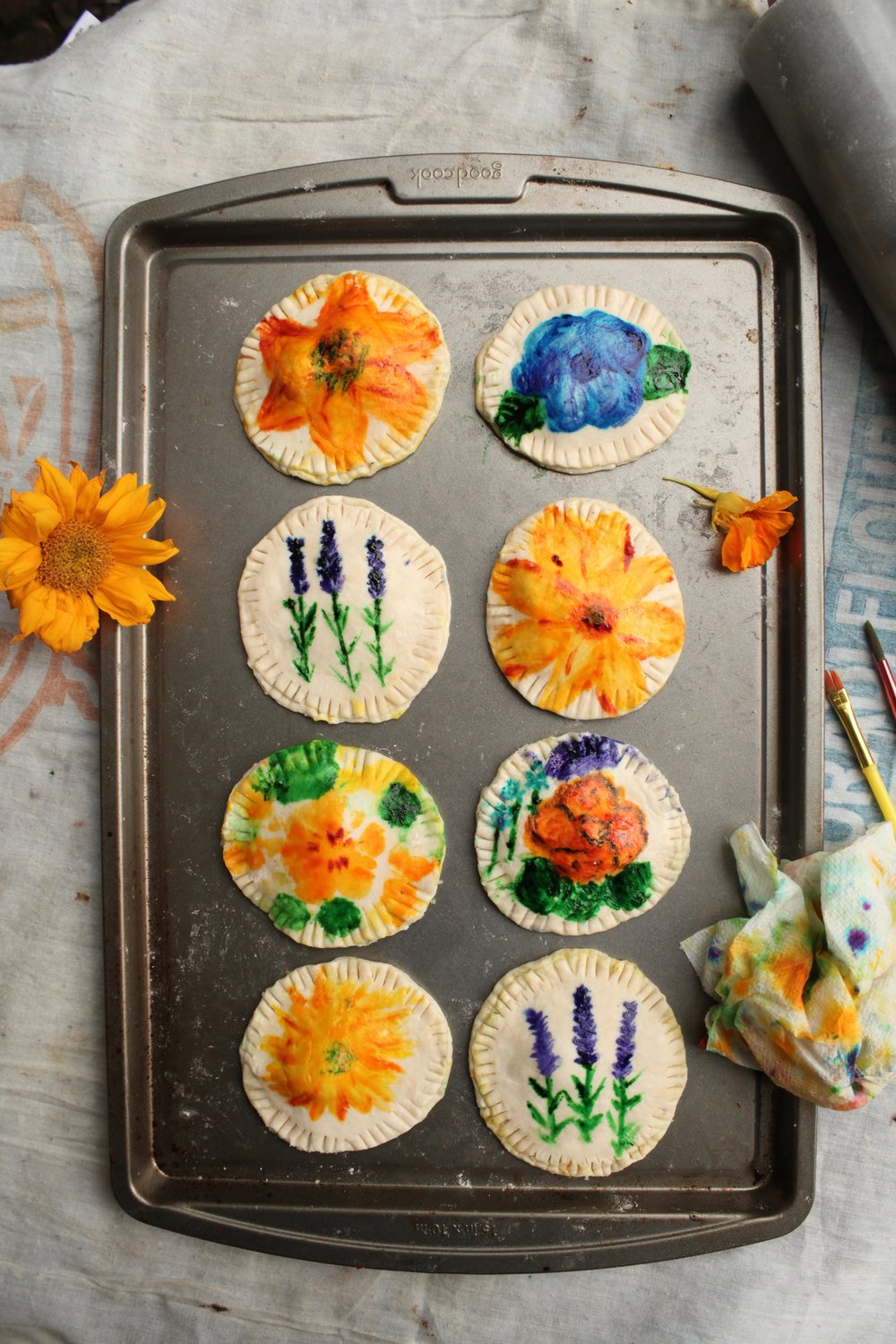 Watercolor Painted Pie Crust