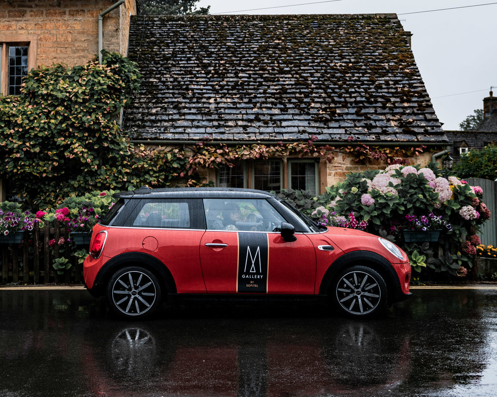 Mini Cooper at Bourton-on-the-Water