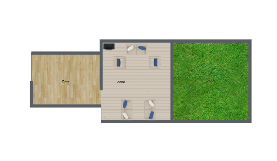 OPTION 1 : Private Studio Space + Private Garden Patio + Greenspace