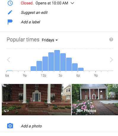 The most recent 360-degree thumbnail always appears at the bottom left corner in Google Maps searches. These are often taken by the Google car or by local Google Trusted Photographers like Cabana VR