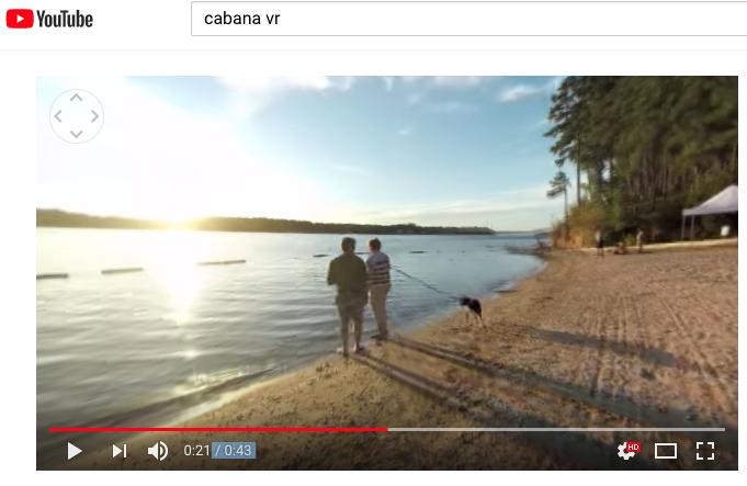 YouTube allows you to easily upload and view 360-degree videos like this one from Cabana VR