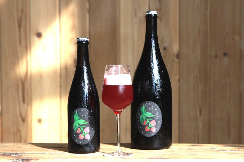 Raspberry Glow Up from our Berliner Weisse inspired series - Released in large format bottles August, 2018