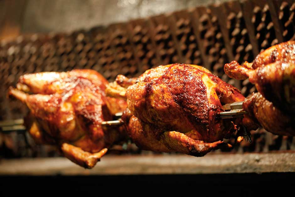 BBQ & ROTISSERIE - Succulent BBQ & Rotisserie menus from £41 per head