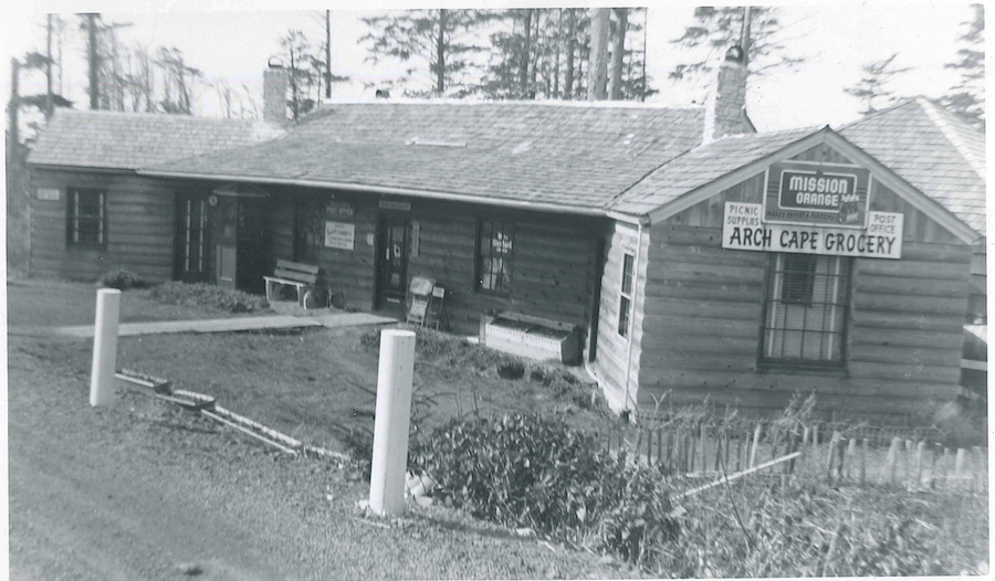 The Inn at Arch Cape in 1955 when it served as the community's grocery and post office.