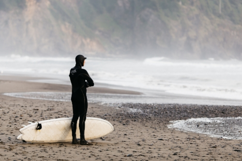 surfing cannon beach
