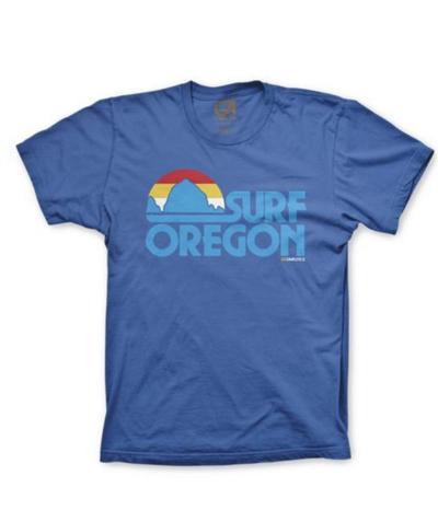 From Portland-based shop  Grafletics , this royal blue beauty pays homage to Oregon Coast surfers.