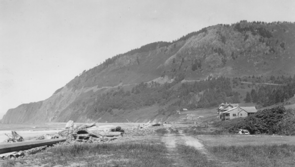 Mighty Neahkahnie, from Manzanita, in the 1930s