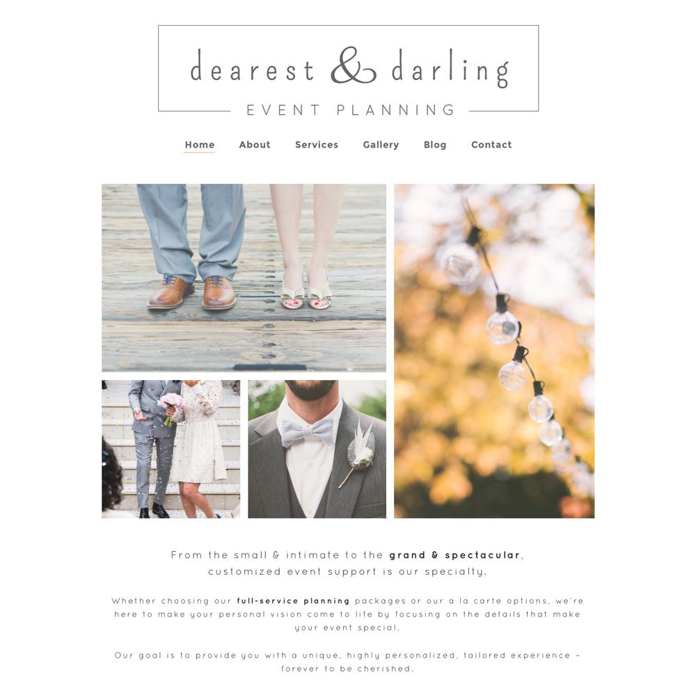Elissa Mae Creative • Dearest & Darling Website Design Layout