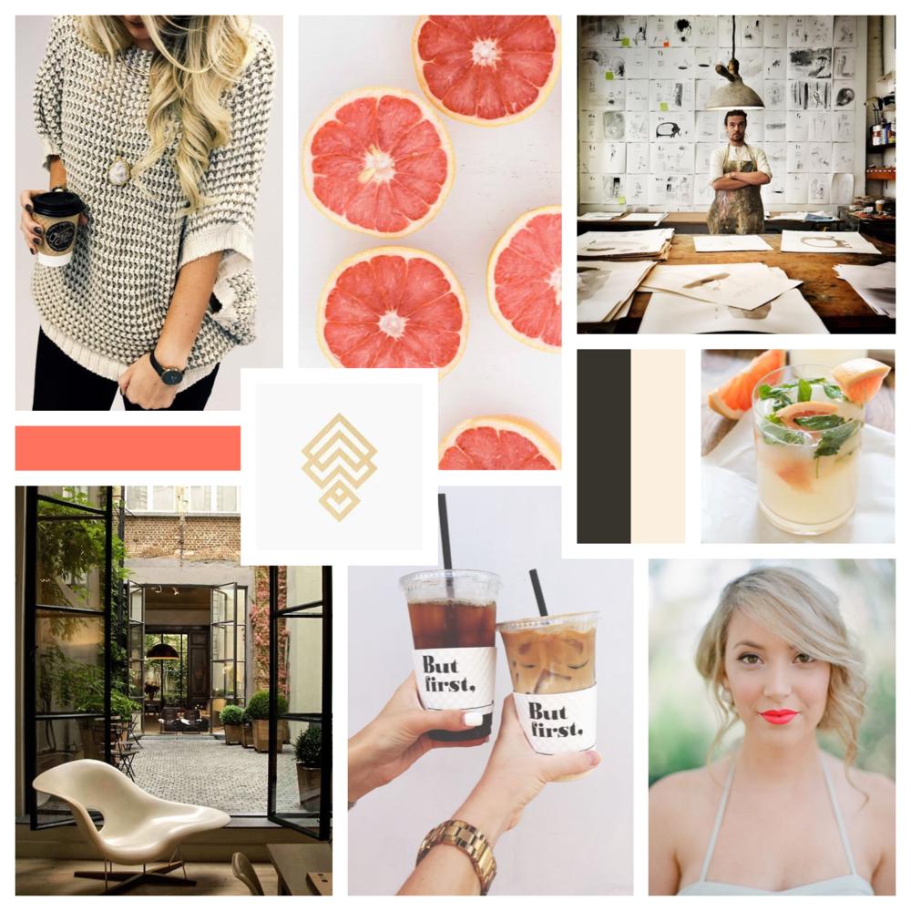 Elissa Mae Creative • Brand Styling Concept - Mood Board