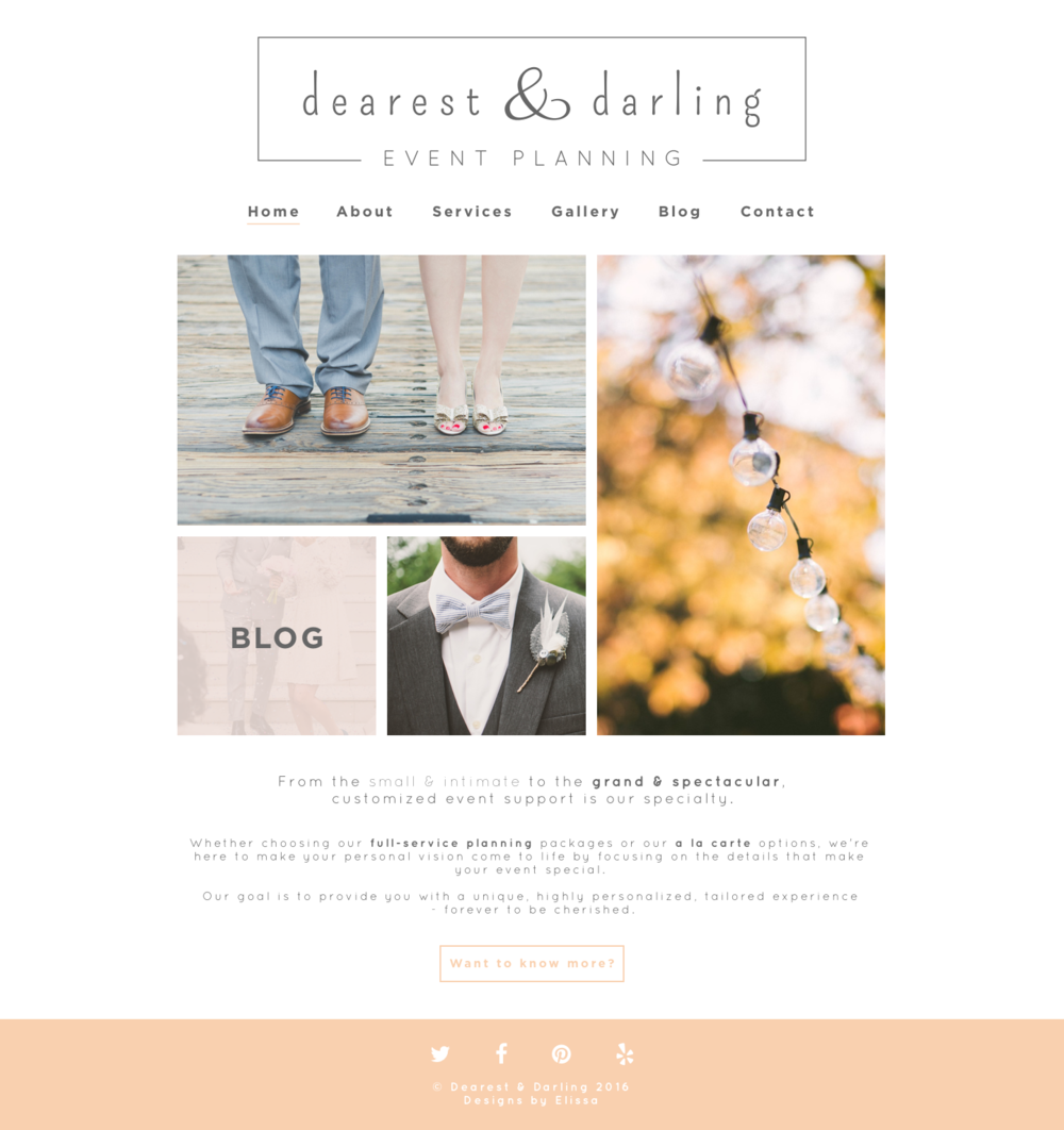 Dearest & Darling Website Design