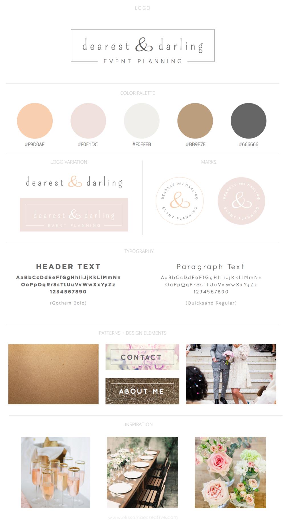 Dearest & Darling Brand Design Style Guide