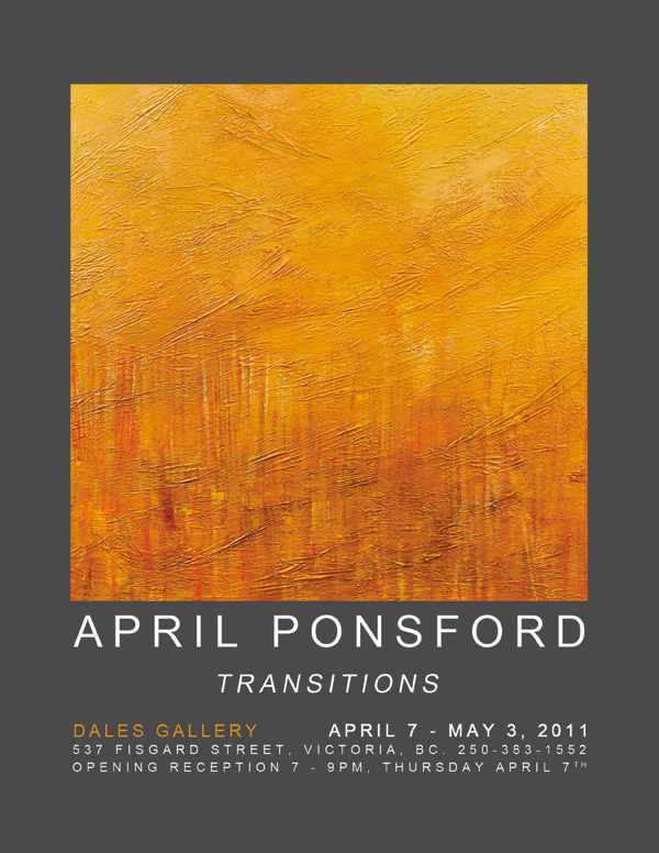 April Ponsford - TRANSITIONS April 7 - May 3