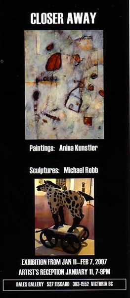 Michael Robb & Anina Kunstler - CLOSER AWAY Jan 11 - Feb 7