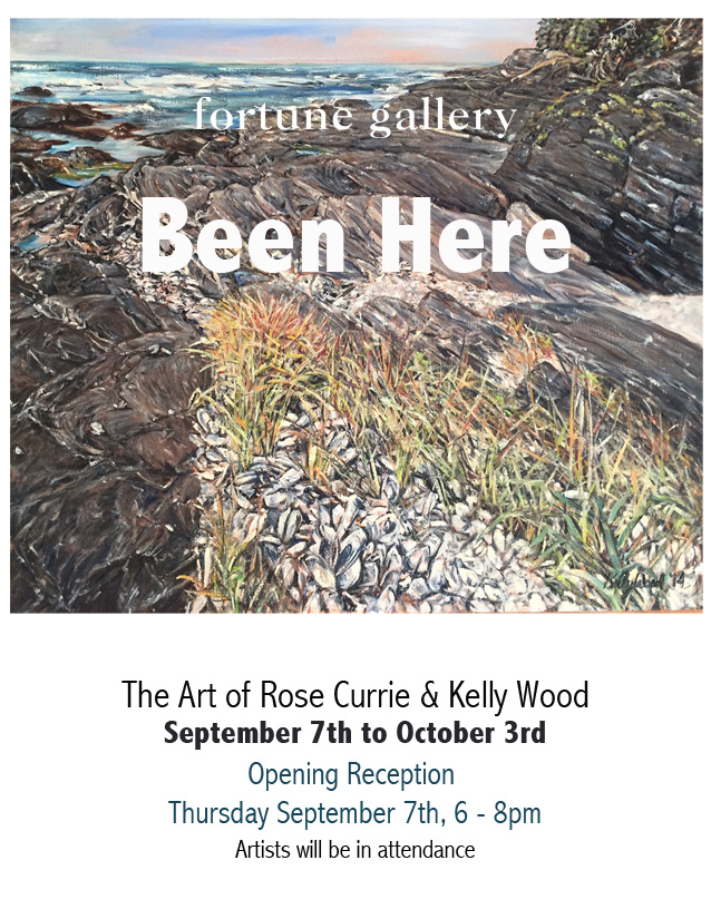 BEEN HERE - Kelly Wood and Rose Currie  September 7th - October 4th 2017 -