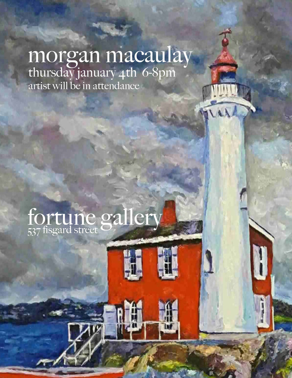 Morgan Macaulay - January 4th to February 6th 2018