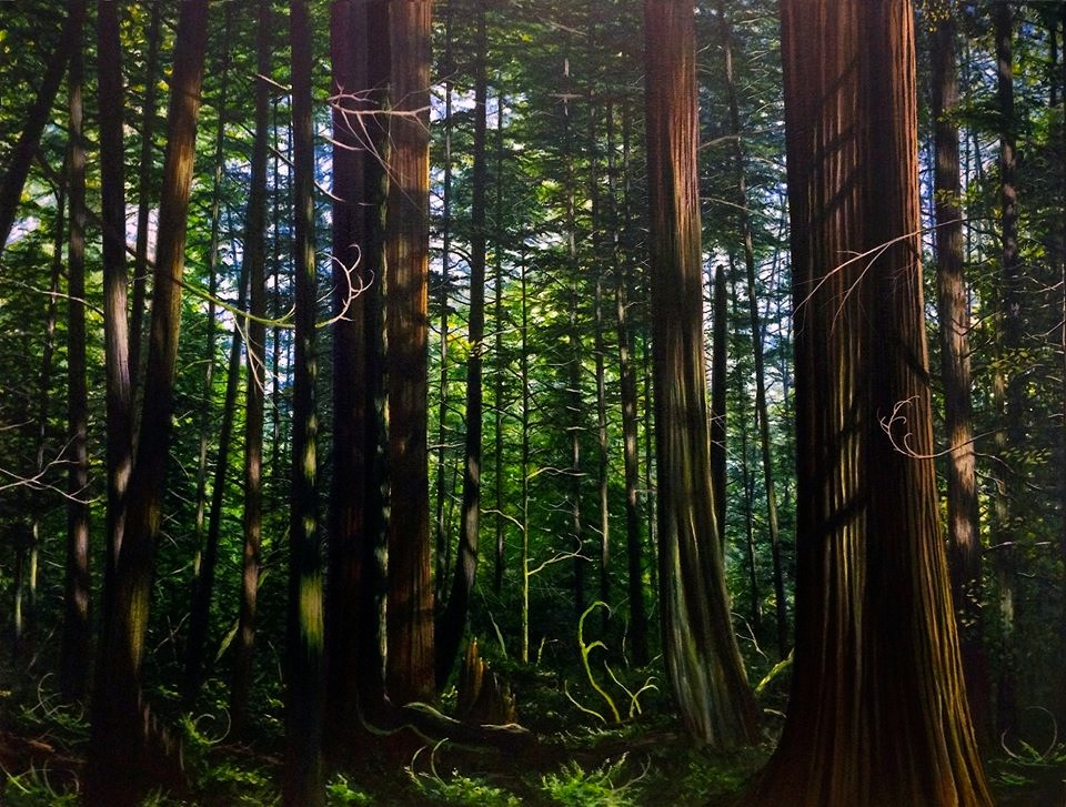 Florencia Grove 34%22x26%22 Logan Ford forest painting acrylic on canvas.jpg