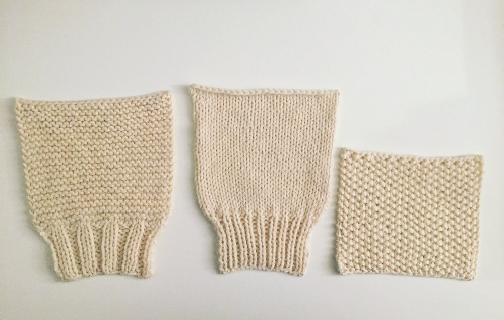 from left to right:  swatch #1, 2 , 3