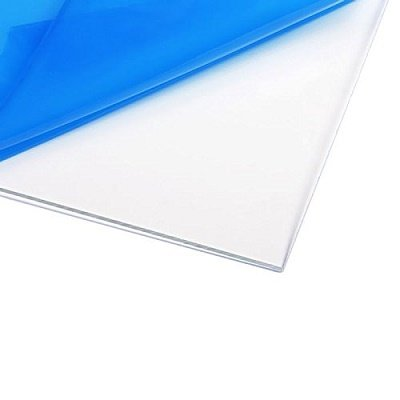 polycarbonate - I use this for my palette! It keeps the paint slick and is easy to clean.