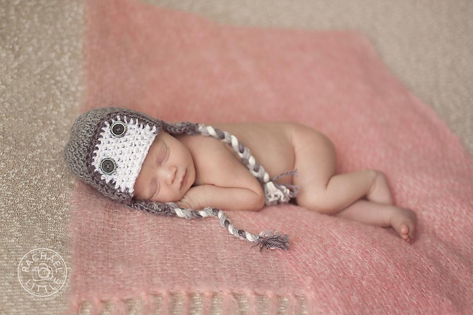Newborn pink blanket