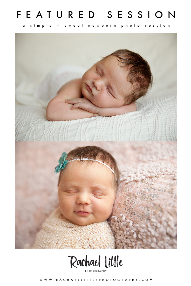 A beautiful and simple newborn session for a 7-day old baby girl, in Woodstock, Ontario. Simple and elegant newborn photography is my favourite.