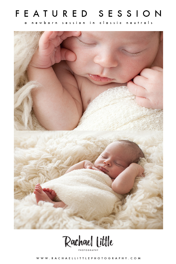 I love newborn photography sessions that feature minimal props and neutral colours. 100% focus on your new baby. Photographed in a natural light studio in Woodstock, Ontario.