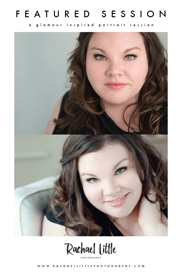 A glamour inspired portrait session photographed in Woodstock, Ontario.