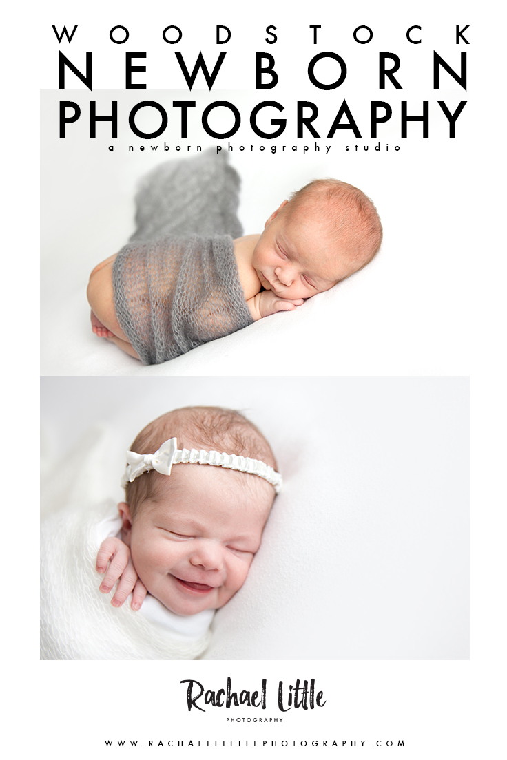 Newborn photography that's light and airy.  Studio photography in Woodstock, Ontario.